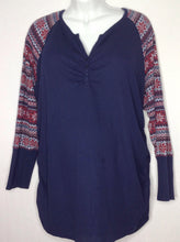 Size 3X Motherhood Navy Print Top