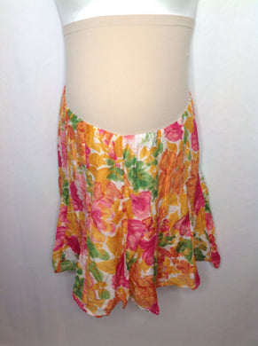 Size Large A Pea in the Pod Pink & Orange Floral Skirt