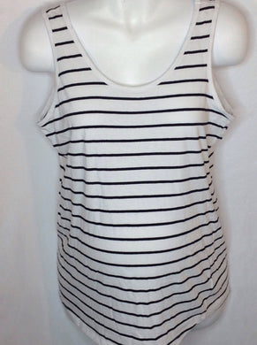 Size Large Bump Start WHITE & BLACK Stripe Top