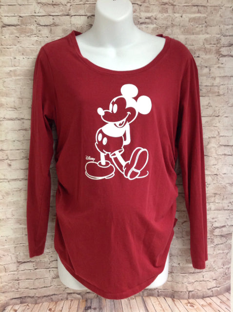 Size Large Disney Red Print Mickey Mouse Top