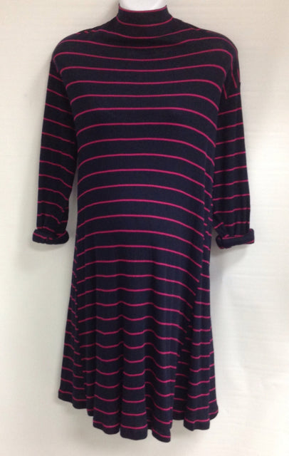 Size Large Liz Lange Navy & Pink Stripe Dress