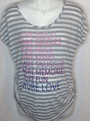 Size Large Motherhood Gray & Pink Top