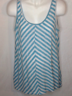 Size Large Oh Baby Baby Blue & White Stripe Top
