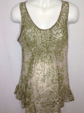Size Medium Motherhood Green & Beige Dress