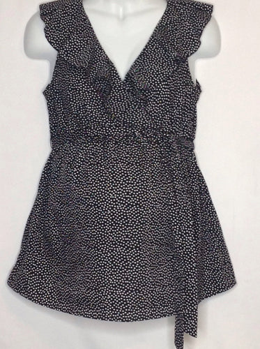 Size Medium Oh Baby BLACK & WHITE Dots Top