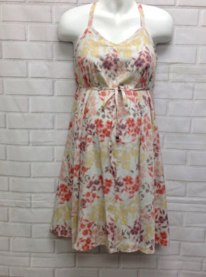 Size Small Motherhood White & Orange Dress