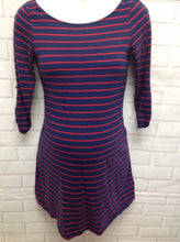 Size Small OLD NAVY MATERNITY Blue & Red Cotton Blend Stripe Top