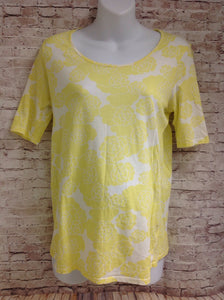 Size XL Motherhood Yellow & White Floral Top