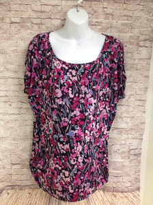 Size XL Oh Baby Pink & Black Top