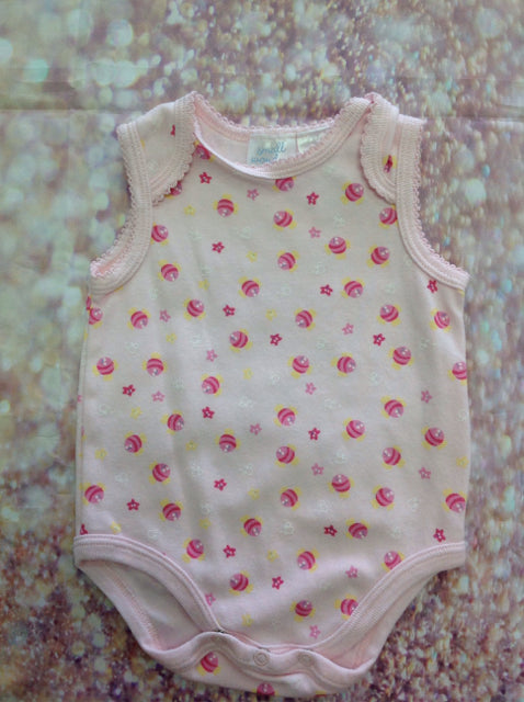 Small Wonders LIGHT PINK PRINT Top