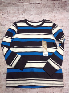 Sonoma BLUE & GRAY Stripe Top