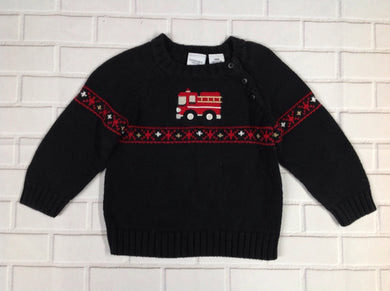 Sonoma Black Print Sweater