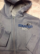 Starter Light Blue ZIP-UP WITH HOOD Top
