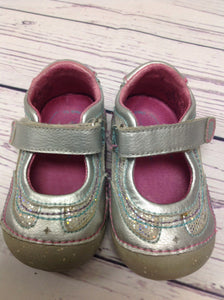 Stride Rite Silver & Pink Shoes