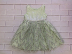 Sweet Heart Rose GREEN & SILVER Glitter Dress