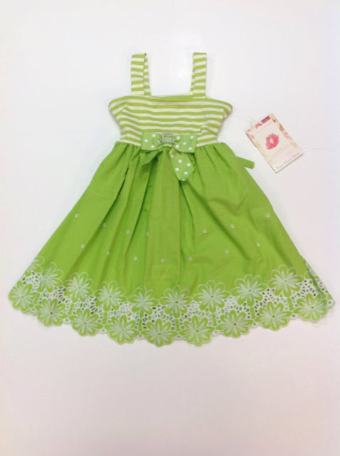 Sweet Heart Rose Green & White Dress
