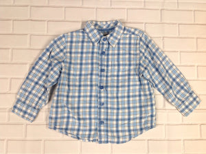 The Children's Place Blue & White Checkered Top