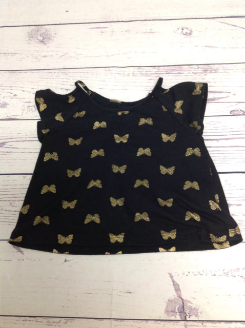 The Place Black Print Top