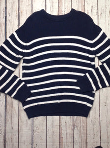 The Place Blue & White Stripe Sweater