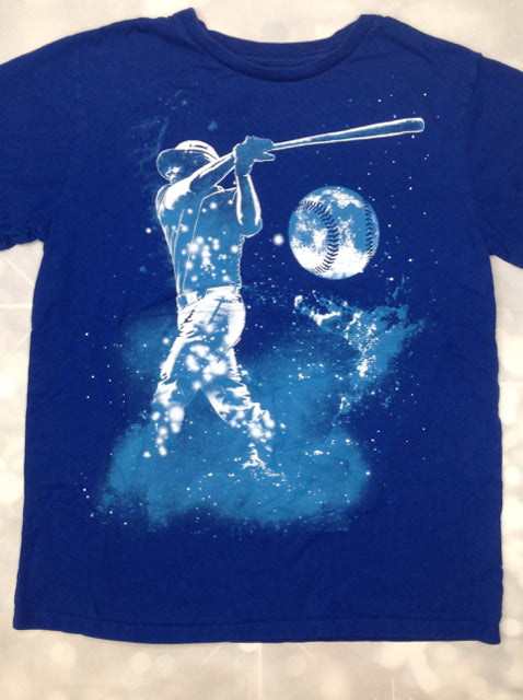 The Place Blue Print Baseball Top