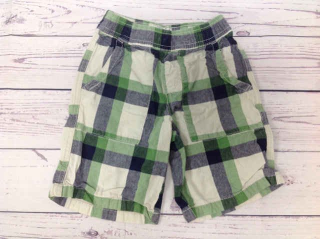 The Place Green Print Plaid Shorts