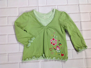The Place Green Print Top