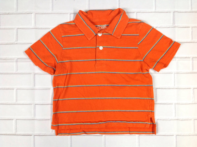 The Place Orange Print Top