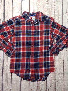 The Place Red & Blue Plaid Top