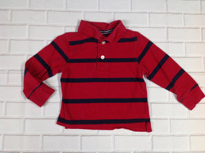 The Place Red & Blue Stripe Top