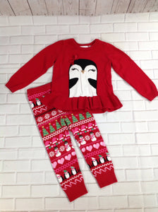 The Place Red Print Christmas 2 Piece Set