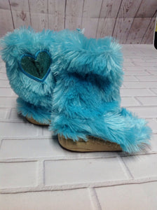 The Place Teal Slippers