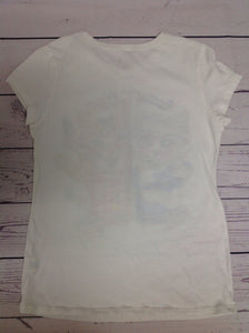 The Place White Print Top