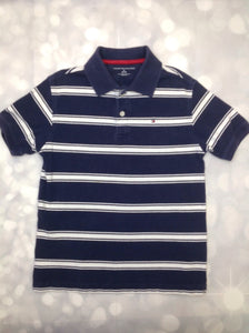 Tommy Hilfiger Navy Print Stripe Top