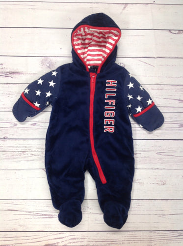 Tommy Hilfiger navy & red Snowsuit