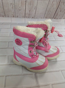 Totes White & Pink Snowboots