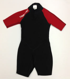 Tribord Red & Black Solid Swimwear