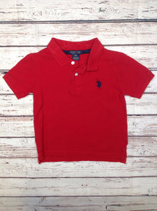 US Polo Red & Blue Top