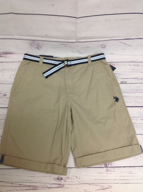 US Polo Tan Solid Shorts