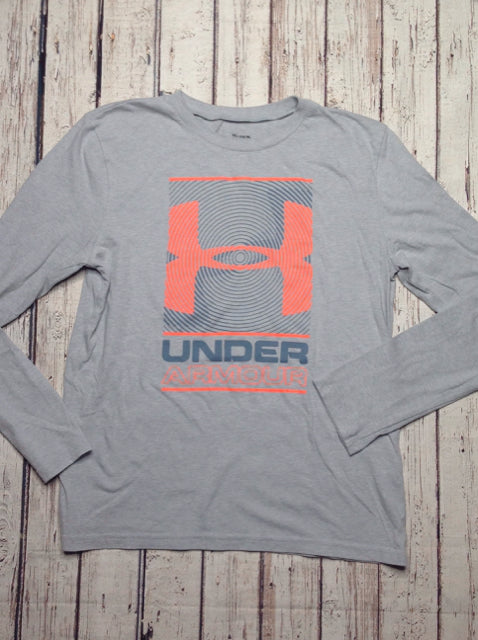 Under Armour GRAY & CORAL Athletic Top