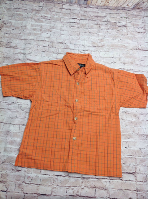 Urban Orange Print Checkered Top