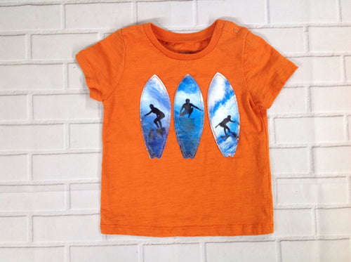 Vitamins Orange Print Top