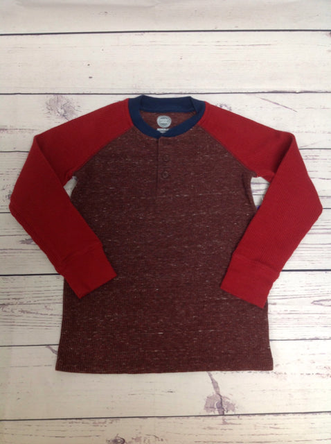 Wonder Nation Red & Navy waffle Top