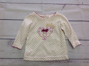 Young Hearts Cream & Purple Top