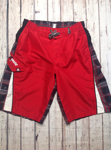 Zero Xposur Red & Black Plaid Swimwear
