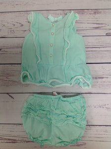 savannah baby Mint Green 2 PC Outfit
