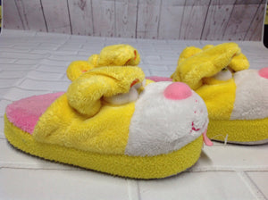 stompees Yellow Print Slippers