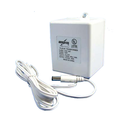 Optional 16.5 Volt Transformer