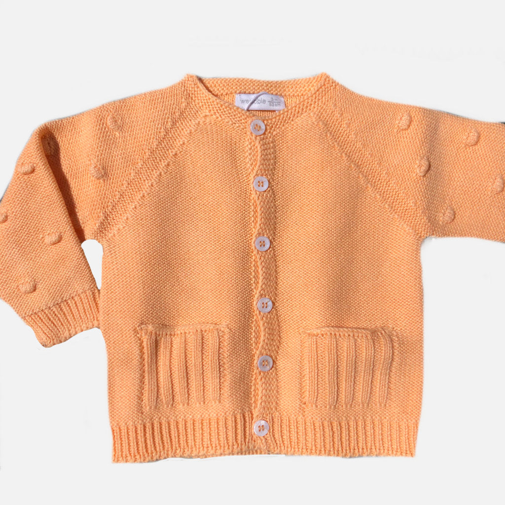 Wedoble Babystrickjacke orange aus Baumwolle / Gukys