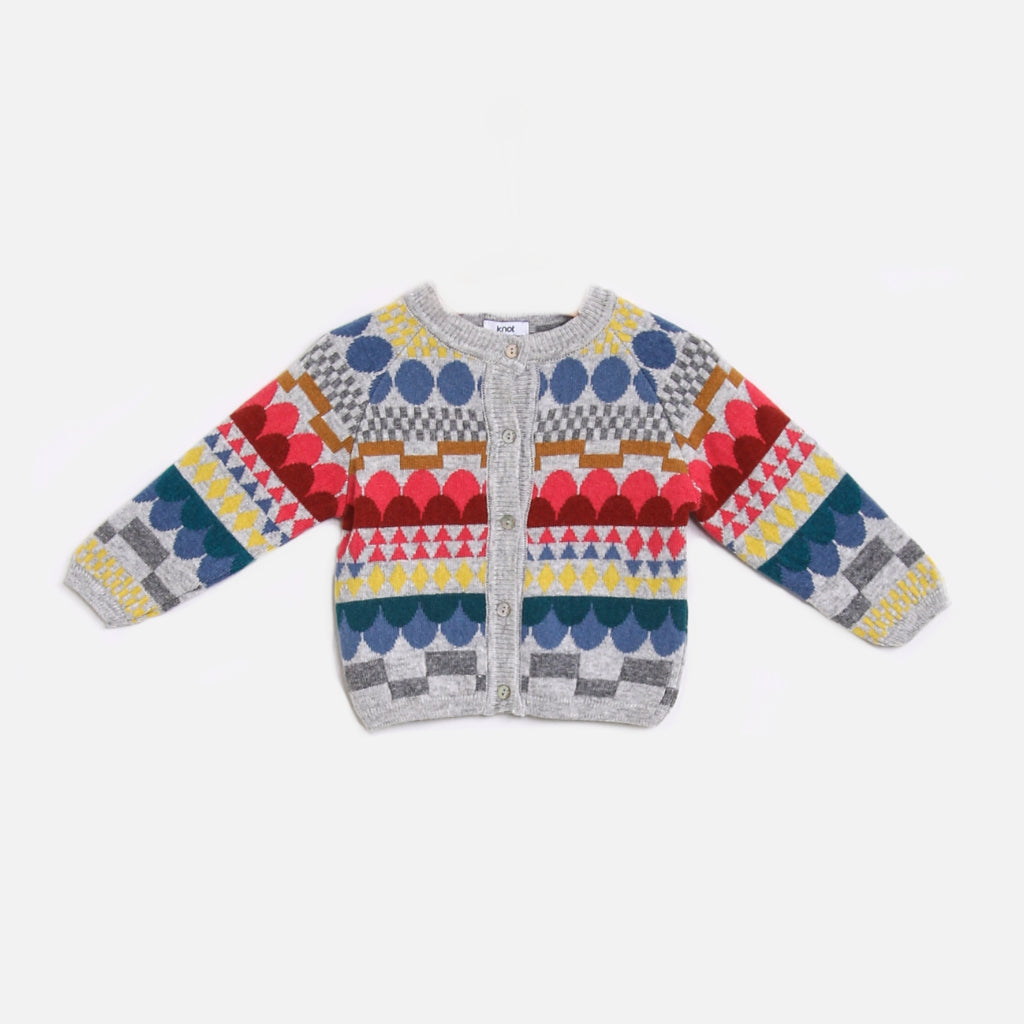 bunte Kinderstrickjacke für den Winter von Knot - Kindermode made in Europa auf Gukys