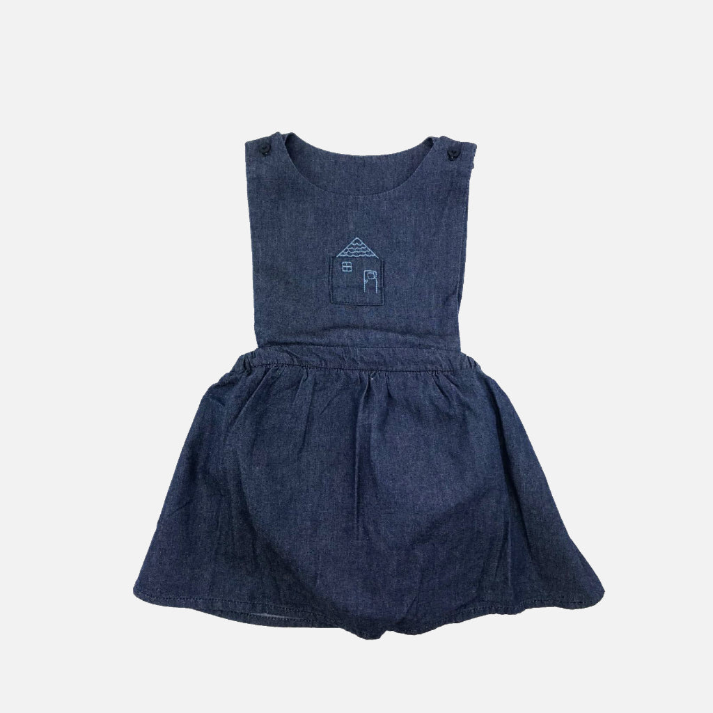 Jeans Pinafore Kleid Hygge Home